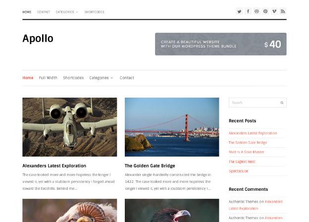 WordPress無料テーマ-ブログや写真ギャラリーに最適-Apollo-トップイメージ