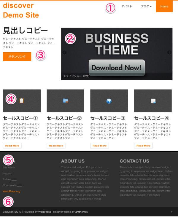 wordpress無料テーマ-ビジネス-discover-カスタマイズ-05