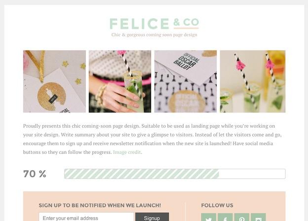 ティザーサイトやランディングページ等のペラ1サイト用テーマ「FELICE」