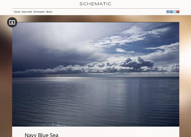 写真ドーン!シンプルに写真の迫力が伝わるホームページを作成。WP無料テーマ「Schematic」