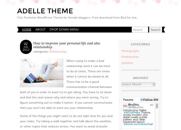 無料WordPressテーマ-ブログ用-シンプル-ADELLE-トップイメージ