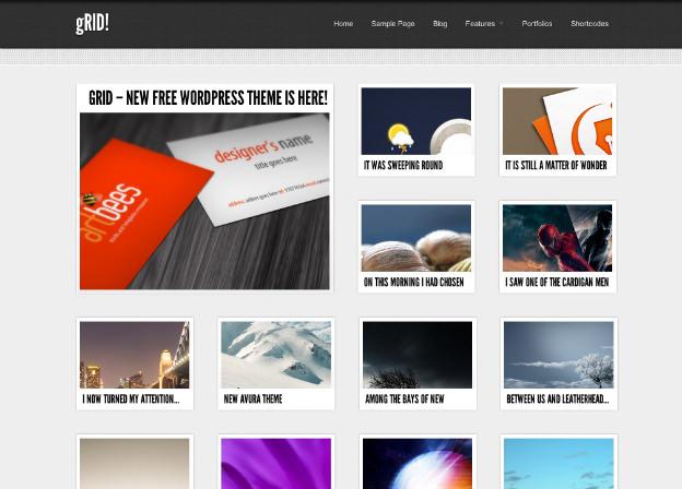 無料WordPressテーマ-ブログ用-ポートフォリオ用-シンプル-gRID-トップ