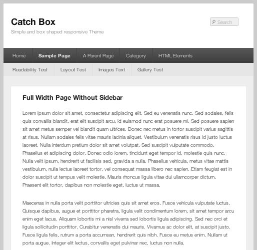 ブログやwebマガジン用の無料WordPressテーマ「catchbox」の全幅ページのデザイン