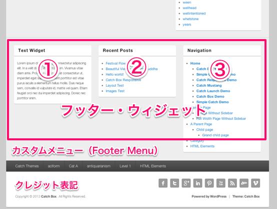 ブログやwebマガジン用の無料WordPressテーマ「catchbox」のトップページ下部のデザイン
