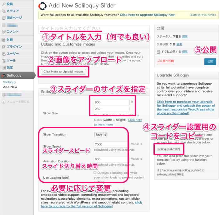 WordPressスライダー「Soliloquy Lite」のカスタマイズ方法その2