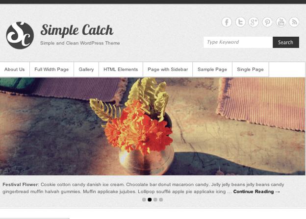 シンプルな個人ブログから写真・ビジネス用途もOK!「Simple Catch」
