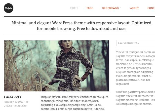 ブログ-写真用の無料WordPressテーマ「orijin」のトップページイメージ