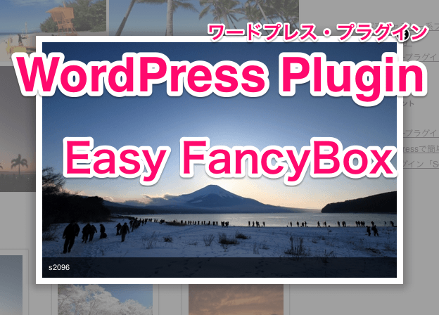 WordPressプラグイン「EasyFancyBox」紹介記事のアイキャッチ画像