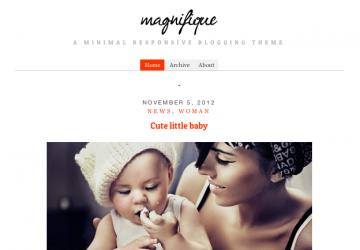 1カラムのシンプルデザイン。ブログ用WP無料テーマ「Magnifique」