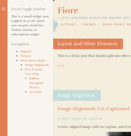 ブログ用の無料WordPressテーマ「fiore」のサイドバーのデザイン