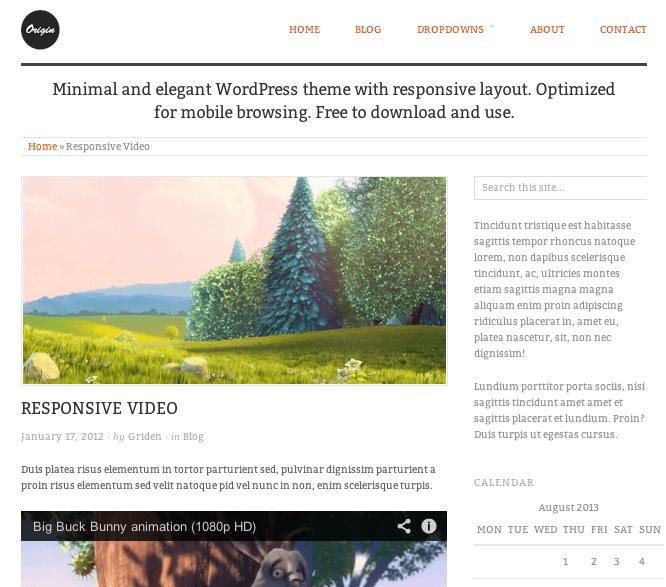ブログ-写真用の無料WordPressテーマ「orijin」の投稿ページデザイン