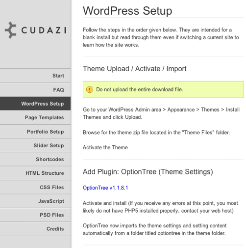 ビジネスかつポートフォリオ用の無料WordPressテーマ「Cudazi-Mono」のマニュアル01