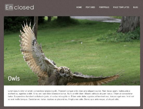 ビジネスやポートフォリオサイト用の無料WordPressテーマ「enclosed」のポートフォリオページのデザイン2