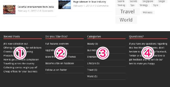 ポータルやブログ用の無料WordPressテーマ「MHMagazine」のフッターデザイン