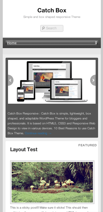 ブログやwebマガジン用の無料WordPressテーマ「catchbox」のレスポンシブデザインのイメージ