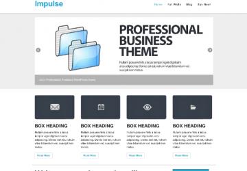 王道カラーでビジネスサイト構築!レスポンシブテーマ「impulse」