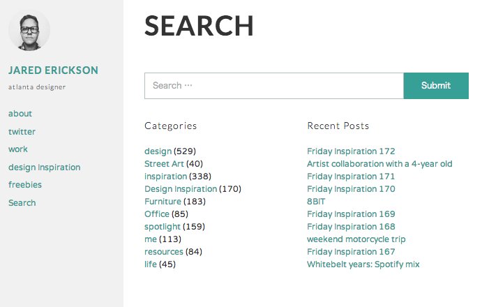 ブログ-ポートフォリオ用の無料WordPressテーマ「Required」の検索ページデザイン
