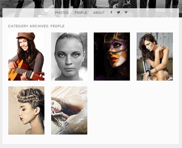 ポートフォリオ用の無料WordPressテーマ「snaps」のカテゴリーページデザイン