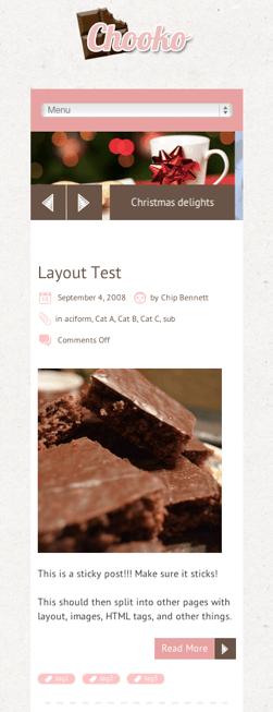 ブログ用の無料WordPressテーマ「chooko」のレスポンシブデザインのイメージ