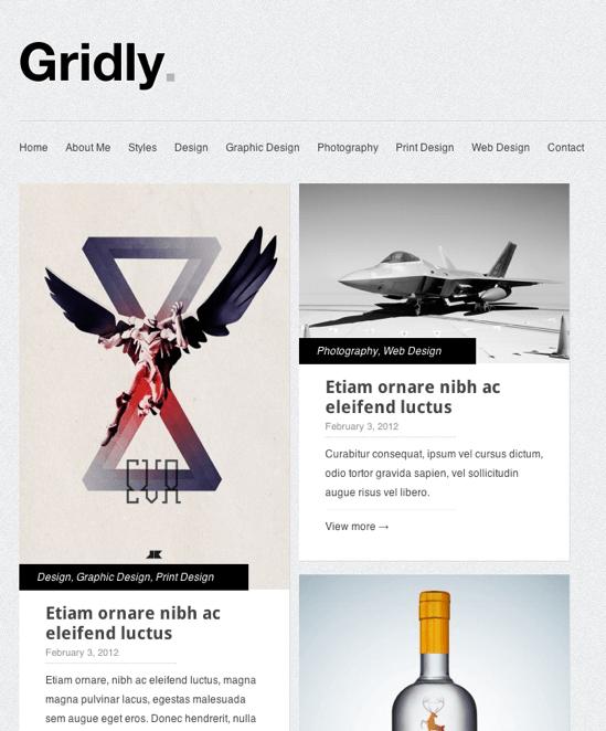 ポートフォリオ-ブログ用の無料WordPressテーマ「Gridly」のレスポンシブデザインのイメージ2