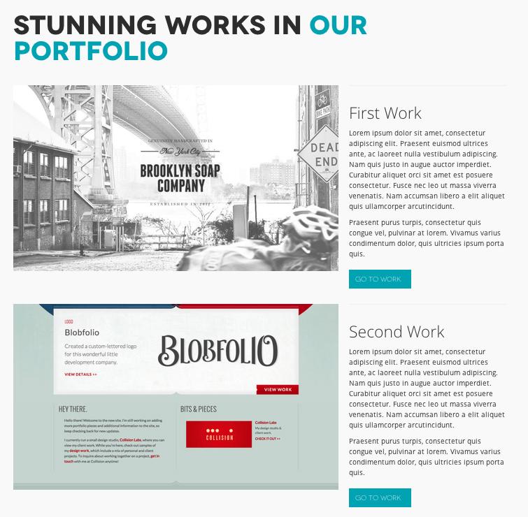 ポートフォリオ-ビジネス用の無料WordPressテーマ「Minimable」のポートフォリオページのデザイン