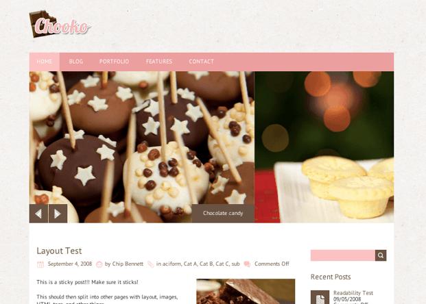 ブログ用の無料WordPressテーマ「chooko」のトップページイメージ
