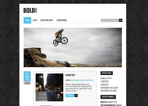 ブログ用の無料WordPressテーマ「BOLDR」のトップページイメージ