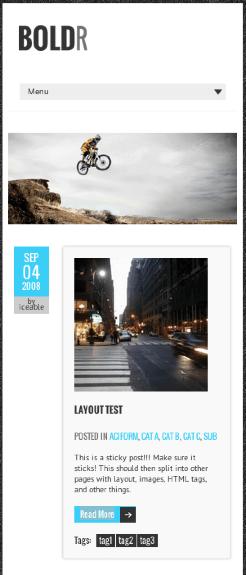 ブログ用の無料WordPressテーマ「BOLDR」のレスポンシブデザインのイメージ1