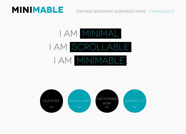 パララックスがおしゃれな1ページポートフォリオ。WP無料テーマ「Minimable」