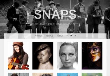 人気のグリッドレイアウト!ポートフォリオ用WP無料テーマ「Snaps」