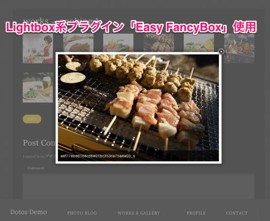 写真ギャラリー用の無料WordPressテーマ「dotos」の固定ページのデザイン2