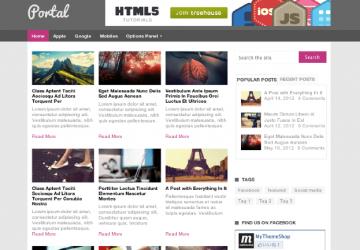 ポータル的なブログ・Webマガジンにおすすめ。WP無料テーマ「Portal」