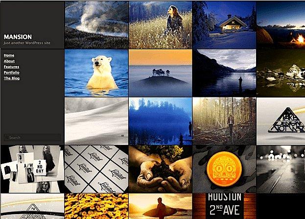 写真ギャラリー用の無料WordPressテーマ「Mansion」のトップページイメージ