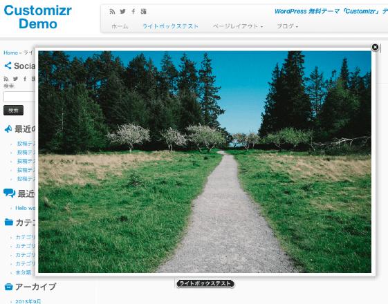 ビジネス-ブログ用の無料WordPressテーマ「Customizr」のlightbox機能について