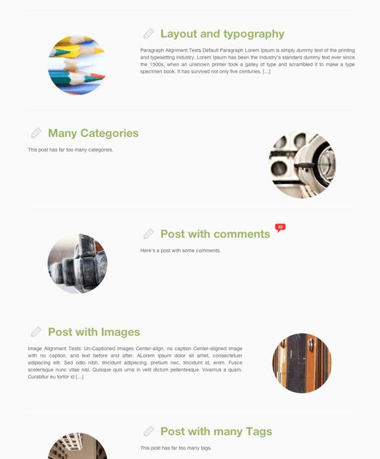 ビジネス-ブログ用の無料WordPressテーマ「Customizr」のトップページのデザイン2