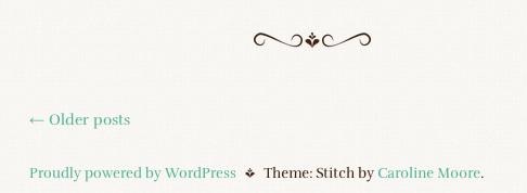 シンプルなタンブラー風ブログ用の無料WordPressテーマ「stitch」のトップページのデザイン2