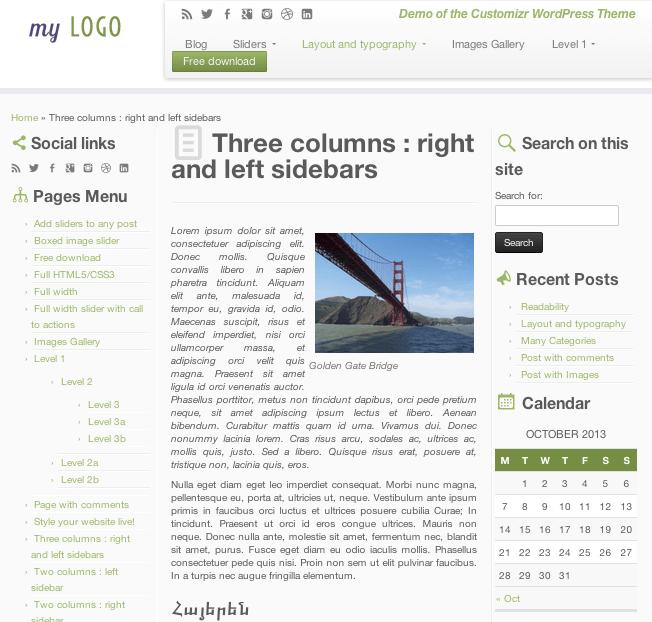 ビジネス-ブログ用の無料WordPressテーマ「Customizr」の固定ページのデザイン3