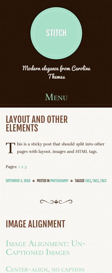 シンプルなタンブラー風ブログ用の無料WordPressテーマ「stitch」のレスポンシブデザインのイメージ1