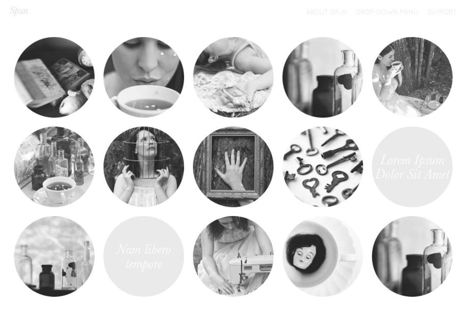 写真ブログ用の無料WordPressテーマ「Spun」のトップページイメージ2