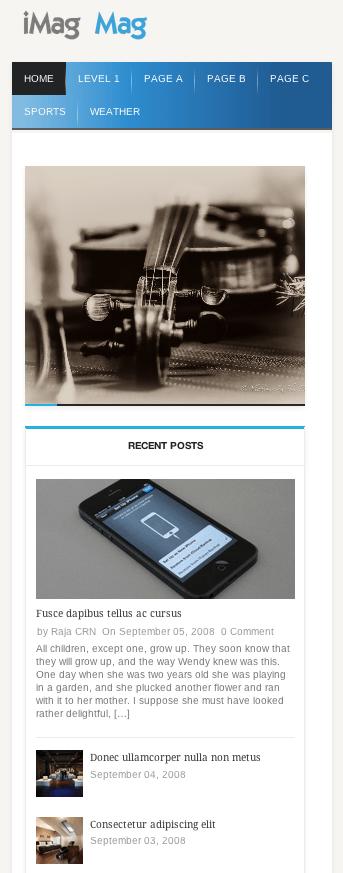 ニュースメディア用の無料WordPressテーマ「iMag-Mag」のレスポンシブデザインのイメージ1