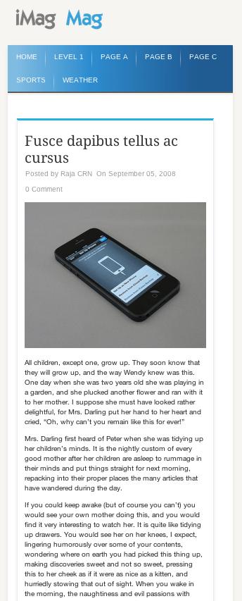 ニュースメディア用の無料WordPressテーマ「iMag-Mag」のレスポンシブデザインのイメージ2