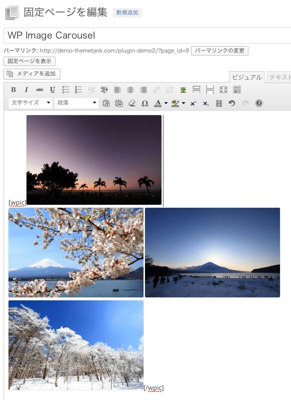 カルーセルスライダー用のWordPressプラグイン「WPImagecarousel」の設定方法・使い方7