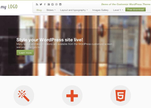 ビジネス-ブログ用の無料WordPressテーマ「Customizr」のトップページイメージ