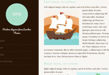シンプルなタンブラー(Tumblr)風、可愛いブログにおすすめ。WP無料テーマ「Stitch」