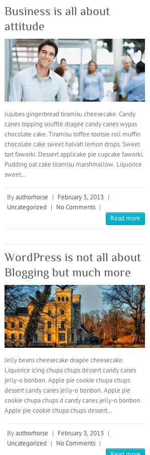 ビジネスサイト用の無料WordPressテーマ「Attitude」のレスポンシブデザインのイメージ2