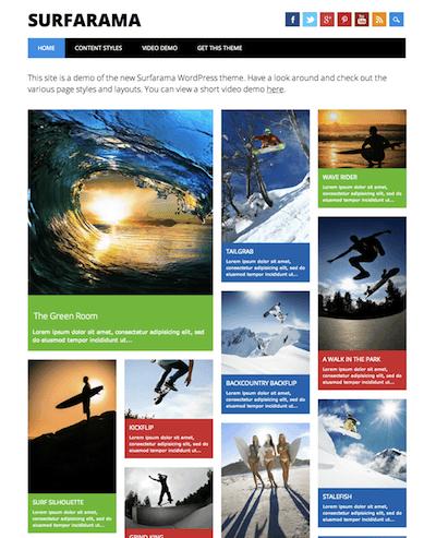 WordPressテーマ「Surfarama」のデモサイトのイメージ図