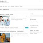 ビジネスサイト用の無料WordPressテーマ「Attitude」のカテゴリーページデザイン2