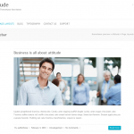 ビジネスサイト用の無料WordPressテーマ「Attitude」の個別のページデザイン3
