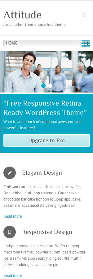 ビジネスサイト用の無料WordPressテーマ「Attitude」のレスポンシブデザインのイメージ1