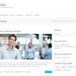 ビジネスサイト用の無料WordPressテーマ「Attitude」の個別のページデザイン2